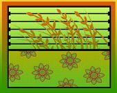 Textura de flores de trigo