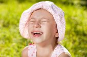 Cheerful Girl Laughing