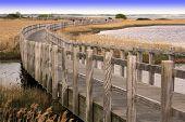 Longest wooden pedestrian bridge in Denmark