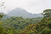 Panoramic Views Of Jungle Mountains In Ching Mai ,thailand