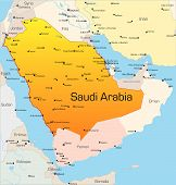 picture of saudi arabia  - Abstract vector color map of Saudi Arabia country - JPG