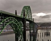 foto of u-boat  - Located in Newport Oregon is one the most recognizable bridges on U S route 101 - JPG