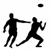 Sport Silhouette - Rugby Football Awaiting High Ball