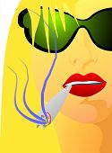 Portrait Of Girl With Cigar - 303 poster