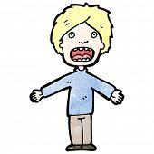 cartoon gasping man