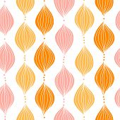 Abstract golden ogee seamless pattern background