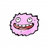 little pink furball monster poster
