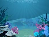 Illustration background of an underwater scene