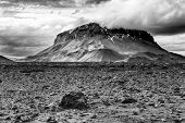 stock photo of symmetrical  - Herdubreid is one of the most beautiful Icelandic volcanoes - JPG