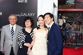 LOS ANGELES - MAY 20:  Ken Jeong, Tran Jeong and parents arrive at the