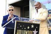 LOS ANGELES - MAY 13: Ellen DeGeneres, Steve Harvey at a ceremony where Steve Harvey is honored with a star on the Hollywood Walk Of Fame on May 13, 2013 in Los Angeles, California