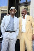 LOS ANGELES - MAY 13: Steve Harvey, Samuel L Jackson at a ceremony where Steve Harvey is honored with a star on the Hollywood Walk Of Fame on May 13, 2013 in Los Angeles, California