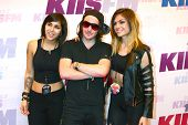 LOS ANGELES - MAY 11:  Yasmine Yousaf, Rain Man and Jahan Yousaf of Krewella attend the 2013 Wango Tango concert produced by KIIS-FM at the Home Depot Center on May 11, 2013 in Carson, CA