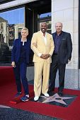 LOS ANGELES - MAY 13: Ellen DeGeneres, Steve Harvey and Dr Phil McGraw at a ceremony where Steve Harvey is honored with a star on the Hollywood Walk Of Fame on May 13, 2013 in Los Angeles, California