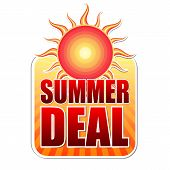 Sommer-Deal In Label mit Sonne