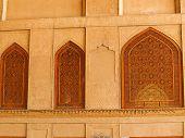 Islamic Pattern Woodern Screen Window In Isfahan, Iran