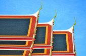 Roof of Thai s Temple and blue sky