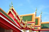 Roof of Thai's Temple and Blue Sky