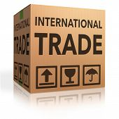 international trade on global and worldwide market world economy freight transportation for import and export