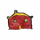 old tumbledown house cartoon