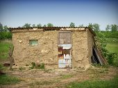 stock photo of mud-hut  - Old house - JPG