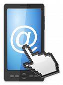 Phone Cursor And Email Symbol