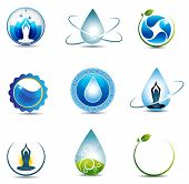 stock photo of chiropractic  - Nature and health care symbols - JPG