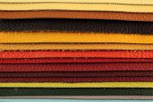 Color palette sample picker of leather material