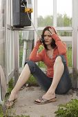 Girl In Phone Booth Getting Bad Sad News