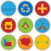 Junge Themen Verdienst Badges