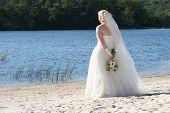 Bride Alone At The Lake