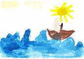Sailboat Children's Drawing