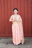 Asian Thai Woman/bride In Thai Wedding Suit