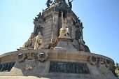 Columbus's Column In Barcelona.
