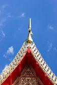 Gable Apex;chorfah In Thai And Blue Sky