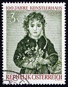 Postage Stamp Austria 1961 Girl, By Anton Romako