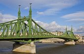 Liberty Bridge Over Dunabe River In Budapest, Hungary
