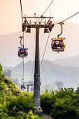 KUALA LUMPUR, MALAYSIA - JUNE 15: Cableway leading to Genting, June 15, 2013 in Kuala Lumpur, Malays
