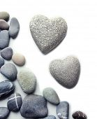 stock photo of pumice-stone  - Grey stones in shape of heart - JPG
