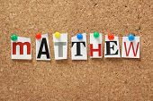 stock photo of bible story  - The name Matthew - JPG