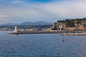 View On Lighthouse And Quay Of Nice, France