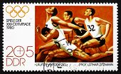 Postage Stamp Gdr 1980 Runners At The Finish