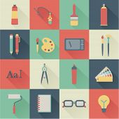 stock photo of spray can  - set of flat graphic design icons - JPG
