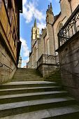 Medieval Cathedral In Rotenburg On Tauber,