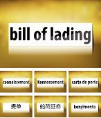 Bill of Lading Concept on white background