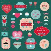 Valentine's Day Badges, Icons Set