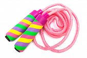 image of skipping rope  - modern skipping rope on a white background - JPG