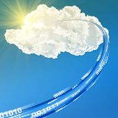 Cloud-Daten-Basis Konzept-Abbildung