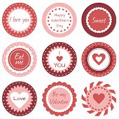 Cupcake toppers for Valentine's Day