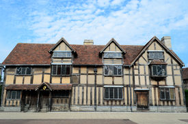 image of william shakespeare  - The timbered house in Stratford - JPG